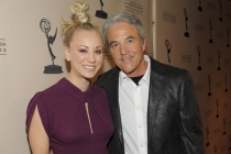 Kaley Cuoco with her father, Gary