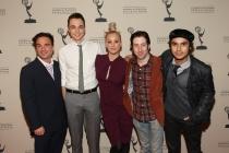 Johnny Galecki, Jim Parsons, Kaley Cuoco, Simon Helberg and Kunal Nayyar of The Big Bang Theory