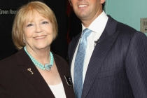 Television Academy Nancy Bradley Wiard & Donald Trump Jr. at An Evening With Celebrity Apprentice