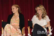Dianna Agron and Jessalyn Gilsig at An Evening With Glee