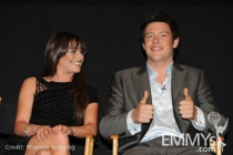Lea Michele and Cory Monteith at An Evening With Glee