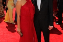Jenna Ushkowitz and Kevin McHale at the 62nd Primetime Emmy Awards