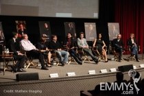 The panel at An Evening With The Good Wife