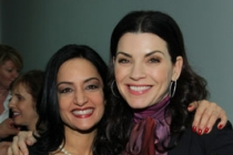 Archie Panjabi and Julianna Margulies at An Evening With The Good Wife