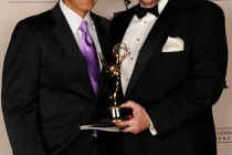 Antonio Villaraigosa, Barry Kibrick at the LA Area Regional Emmys