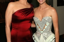 Actresses Sigourney Weaver and January Jones