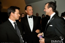 Actors Mark Wahlberg, Tom Hanks and Bill Paxton