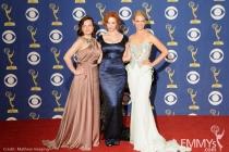 Actresses Elisabeth Moss, Christina Hendricks and January Jones