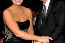Actors Amy Poehler and Jack McBrayer