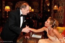 Actors Bob Newhart and Cat Deeley