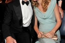Actors Jon Hamm and Jennifer Westfeldt