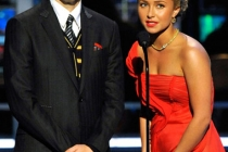 Presenters Jon Cryer and Hayden Panettiere