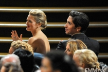 Actors Drew Barrymore and Justin Long