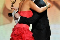 Actress Toni Collette and presenter Justin Timberlake