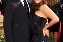 John Larusso and Carrie Ann Inaba arrives at the 62nd Annual Primetime Emmy Awards held at the Nokia Theatre