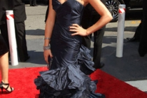 Actress Lea Michele arrives at the 62nd Annual Primetime Emmy Awards held at the Nokia Theatre