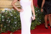 Julie Benz arrives at the 62nd Annual Primetime Emmy Awards held at the Nokia Theatre
