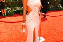 Actress Eva La Rue arrives at the 62nd Annual Primetime Emmy Awards held at the Nokia Theatre