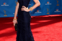 Jayma Mays arrives at the 62nd Annual Primetime Emmy Awards held at the Nokia Theatre