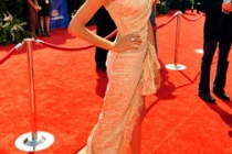 Actress Nina Dobrev arrives at the 62nd Annual Primetime Emmy Awards held at the Nokia Theatre