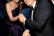 Actors Jane Lynch and Matthew Morrison attend the 62nd Annual Primetime Emmy Awards held at Nokia Theatre