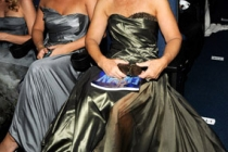 Actress Glenn Close (R) and daughter attend the 62nd Annual Primetime Emmy Awards held at Nokia Theatre