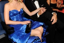 Actors January Jones and Jason Sudeikis attend the 62nd Annual Primetime Emmy Awards held at Nokia Theatre