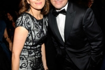 Actors Tina Fey and Steve Carell attend the 62nd Annual Primetime Emmy Awards held at Nokia Theatre