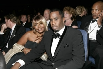 Sean Combs & mother Janice Combs at the 60th Primetime Emmys