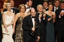 Matt Weiner with Mad Men cast & creators at the 60th Primetime Emmys