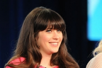 Zooey Deschanel at the 2012 winter TCA conference in Pasadena, California.