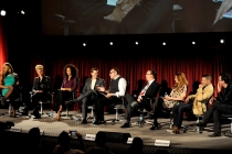 Laverne Cox, Christy Dees, Sherri Saum, Andrew Rannells, Stephen Tropiano, Paul Colichman, Amber Tamblyn, Wilson Cruz, and Dan Bucatinsky