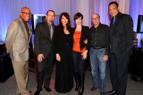 Paris Barclay, Kurt Sutter, Katey Sagal, Maggie Siff, Dayton Callie, and Jimmy Smits