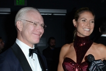 Tim Gunn and Heidi Klum at the Backstage Live Thank You Cam
