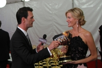 Anna Gunn speaks with Marc Istook at the Backstage Live Social Media Cam.