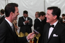 Stephen Colbert speaks with Marc Istook at the Backstage Live Social Media Cam.