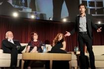 Eric McCormack. James Burrows, Megan Mullalley and Debra Messing