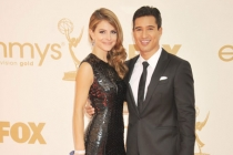 Maria Menounos and Mario Lopez arrives at the Academy of Television Arts & Sciences 63rd Primetime Emmy Awards at Nokia Theatre