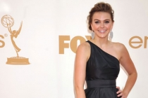 Aimee Teegarden arrives at the Academy of Television Arts & Sciences 63rd Primetime Emmy Awards at Nokia Theatre L.A. Live