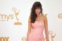 Paz de la Huerta arrives at the Academy of Television Arts & Sciences 63rd Primetime Emmy Awards at Nokia Theatre L.A. Live