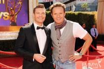 Ryan Seacrest (L) and executive producer Mark Burnett