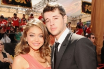 Sarah Hyland (L) and Matt Prokop arrive at the Academy of Television Arts & Sciences 63rd Primetime Emmy Awards