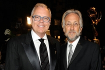 (L-R) Television Academy chairman John Shaffner and National Academy of Recording Arts and Sciences president Neil Portnow