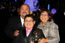 Actor Rico Rodriguez (C), father Roy and mother Diane attend Governor's Ball during the 62nd Primetime Creative Arts Emmy Award