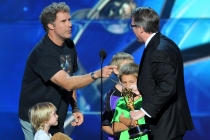 Will Ferrell presents Vince Gilligan with the award for outstanding drama series