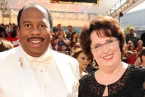 Leslie David Baker (L) and Phyllis Smith arrive at the Academy of Television Arts & Sciences 63rd Primetime Emmy Awards