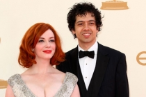 Christina Hendricks and Geoffrey Arend arrive at the Academy of Television Arts & Sciences 63rd Primetime Emmy Awards