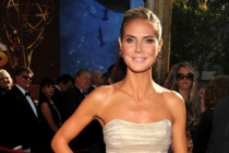 Heidi Klum arrives at the 63rd Primetime Emmy Awards at Nokia Theatre L.A. Live