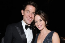 John Krasinski (L) and Emily Blunt at the Governors Ball during the Academy of Television Arts & Sciences 63rd Primetime Emmys