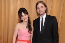 Zooey Deschanel (L) and Mark Says Hi arrive at the Academy of Television Arts & Sciences 63rd Primetime Emmy Awards